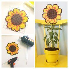 Sunflower hama beads by englaskreativeverden
