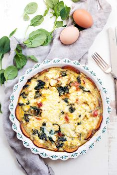 Healthy Meal Prep, Healthy Breakfast Recipes, Brunch Recipes, Healthy Recipes, Breakfast Ideas, Brunch Ideas, Breakfast Quiche, Brunch Food, Brunch Dishes