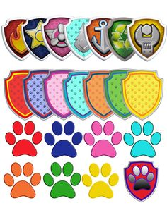 70 Paw Patrol Clipart - 7 logos and 7 shields - printable Digital Clipart Digital Images PNG Instant Download by OctopusDigitalStore on Etsy https://www.etsy.com/listing/265241118/70-paw-patrol-clipart-7-logos-and-7