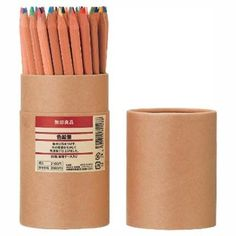 MOMA MUJI 60 ColoRed Pencils in Tube - The Quick Gift