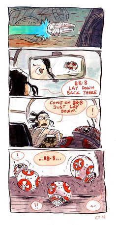 """""""BB-8 is like a dog in a backseat."""" - Star Wars: The Force Awakens"""