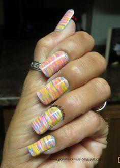 Fan brush tutorial on blog by DianeGraham - Nail Art Gallery nailartgallery.nailsmag.com by Nails Magazine www.nailsmag.com #nailart