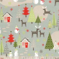 Riley Blake fabric A Merry Little Christmas Flannel Main Grey