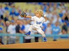 (I think that's his mom's dream though) 3 year old boy throws best first pitch at MLB game - baseball prodigy Christian Haupt at LA Dodgers -
