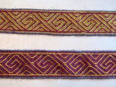 The first to ribbons woven with the empty hole technique in thin wool.