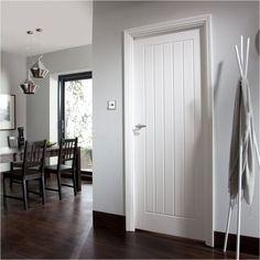 White cottage style internal door #internaldoorstyles