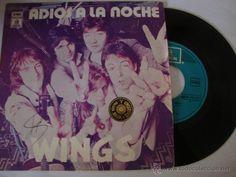 DISCO SINGLE Paul McCartney and Wings, Adios a la noche, edicion de 1979 de españa