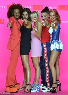 Emma bunton baby spice leg show pinterest for 90er party outfit