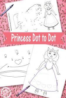Princess Dot to Dot {Free Kids Printable}