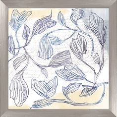Summer Flowers Giclée Framed Graphic Art