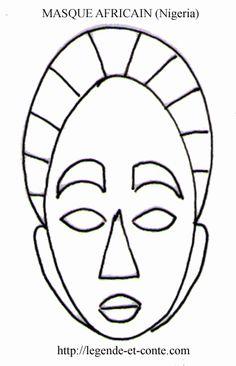 masque africain dessin facile