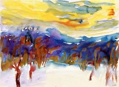 Winter Landscape~Emil Nolde   Lone Quixote   #EmilNolde #nolde #expressionism #art #flowers