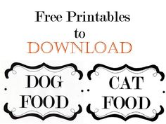 Free Printables Catalog Knock Off: Pet Food Containers | Momtastic