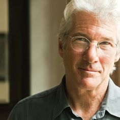 #Hollywood actor Richard Gere in his oval shaped frameless glasses...