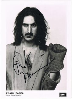 Early Frank Zappa Autograph on EMI photo