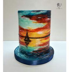 Hand-Painted Cake - cake by Antonia Lazarova