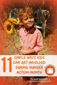 #HungerActionMonth: 11 Simple Ways Kids Can Get Involved #MomsFightHunger #BeTheChange