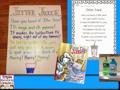 First Day Jitters book, poem & recipe for Jitter Juice
