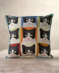 Coldwater Creek 9 Lives Cat Pillow.