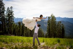 Aerial Wedding Yoga