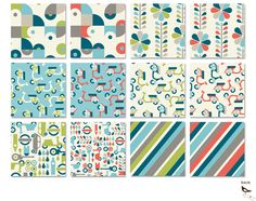 Mod Squad by Dan Stilles for Birch Fabrics.   organic. March 2012. These are crazy awesome!!