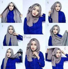 Classic Hijab Look With Volume – Hijab Fashion Inspiration – Hijab Fashion 2020 Tutorial Hijab Segitiga, Simple Hijab Tutorial, Hijab Simple, Hijab Casual, Hijab Chic, Casual Hijab Styles, How To Wear Hijab, How To Wear Scarves, Hijabi Girl