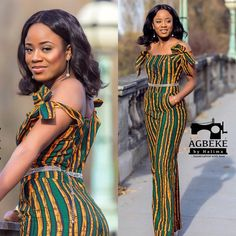Check Out These Kente Vs Ankara Styles - Sisi Couture Short Ankara Dresses, African Print Dresses, African Fashion Dresses, African Dress, African Jumpsuit, African Clothes, Ankara Fashion, Maxi Dresses, African Attire