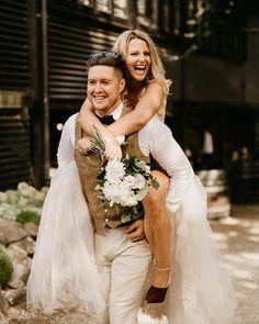 Jess and Eldon stoked heading to their reception. Grey Weddings, Reception, Wedding Dresses, Fashion, Bride Dresses, Moda, Bridal Gowns, Gray Weddings, Fashion Styles