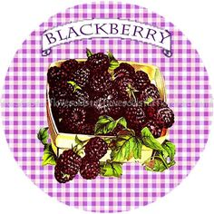 Mason Jar Labels Stickers Blackberry Canning by lovesoldstuff, $4.00