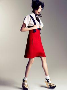 visual optimism; fashion editorials, shows, campaigns & more!: new pop girls: soo joo by camilla akrans for vogue china september 2013
