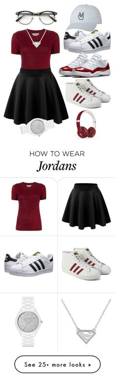 """""""Which shoes"""" by dua-alqushi on Polyvore featuring Étoile Isabel Marant, adidas Originals, Beats by Dr. Dre and Michael Kors"""