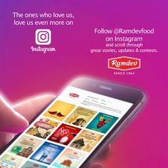 Follow @Ramdevfood on Instagram and scroll through great stories, updates & contests.  #Ramdev #Instagram #INSTAGRamdev