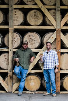 Two guys that love what they do. #lifetime #friends #ny #distillers #blackdirt #real #farm #distillery #realbourbon #blackdirtdistillery