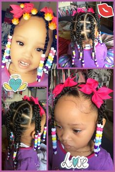 Toddler Braided Hairstyles, Toddler Braids, Cute Little Girl Hairstyles, Little Girl Braids, Cute Hairstyles For Kids, Girls Natural Hairstyles, Baby Girl Hairstyles, Braids For Kids, Girls Braids