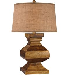 Dimond - Carved Wood Dark Russian Oak Table Lamp