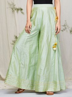 The Loom- An online Shop for Exclusive Handcrafted products comprising of Apparel, Sarees, Jewelry, Footwears & Home decor. Gharara Designs, Kurta Designs Women, Salwar Designs, Kurti Designs Party Wear, Dress Designs, Girls Dresses Sewing, Frocks For Girls, Pakistani Dresses Casual, Pakistani Dress Design