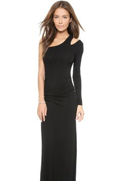 Casual Dresses - black one shoulder long sleeve mini dress (free ...