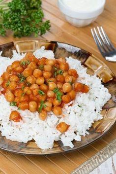 Cizrnová omáčka s rýží Cooking Light, Main Meals, Chana Masala, Risotto, Vegetarian Recipes, Food And Drink, Low Carb, Yummy Food, Eat