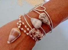 Pearl Puka and Cone Shell Bracelet  Hawaiian by HayleySommer, $25.00... I love her jewelry & keychains!