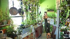 This woman has a jungle in her apartment. I think it's just beautiful. #gardening #garden #gardens #DIY #landscaping #home #horticulture #flowers #gardenchat #roses #nature