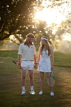 Vintage tennis engagement session (since hubby is a tennis pro)