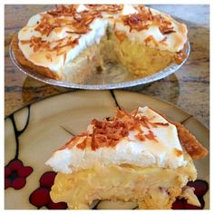 "Coconut Cream Pie | ""Coconut Cream pie has always been my favorite, and this recipe was FANTASTIC!"" #recipe #easter"