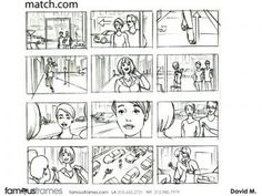 FamousFrames Storyboards, Animatic Artists, Storyboard Artists, David Mellon