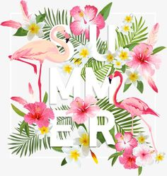 Beach Design, Summer Design, Happy Summer, Summer Beach, Pineapple Flowers, Summer Wallpaper, Flamingo Party, Cellphone Wallpaper, Pattern Wallpaper