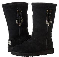 UGG Australia Larynn Black Tassels&Charms UGGpure Lined Boot 7M Ladies/6M Girls #UGGAustralia #Comfort #Casual