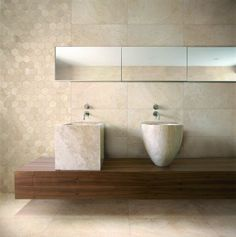 Eco Alabaster sustainable porcelain tiles from Ceramica Fioranese