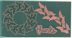 thank you card with butterflies