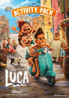 LUCA Is On Disney+ Get These Fun Activity Sheets For Free #PixarLuca #disney #pixar #luca Disney Coloring Pages, Free Coloring Pages, Coloring Sheets, Printable Coloring, Pixar Movies, Disney Movies, Disney Pixar, Disney Land, Disney Now