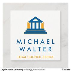 Legal Council | Attorney Square Business Card
