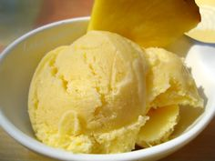 Homemade pineapple ice cream recipe | Creamy and flavorful home made ice cream.